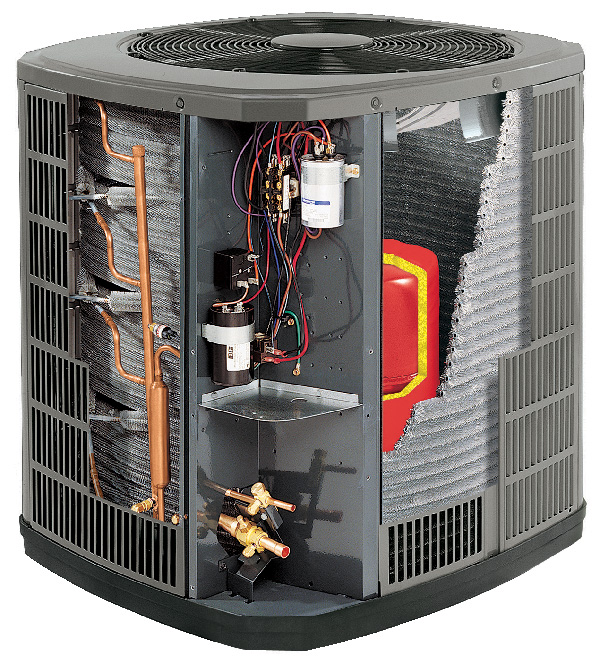 Interior parts of air conditioner that can be serviced